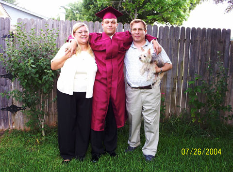 Photo at Robbie's graduation